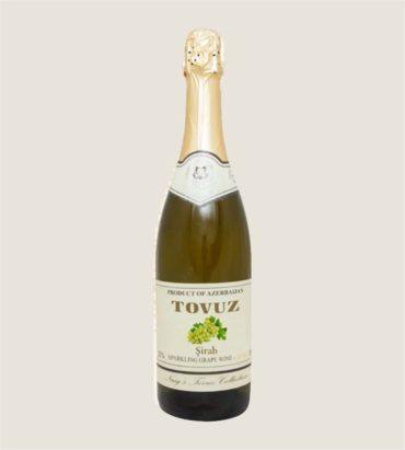 Белое безалкогольное виноградное игристое вино «Товуз»